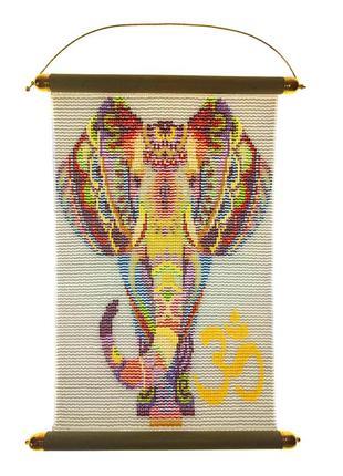 Картина панно из бисера «Слоник антистресс» оберег для дома