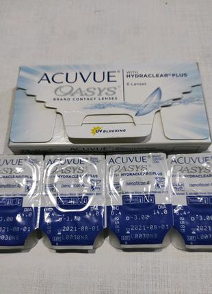Продам Контактные линзы (4шт) Acuvue Oasys D-3.00