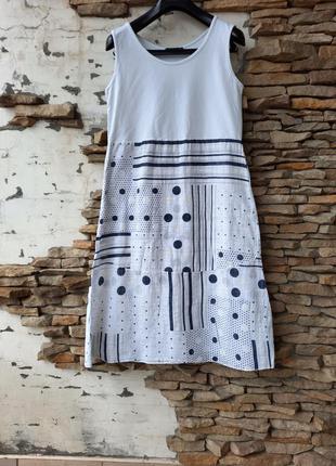 Котоновое платье 👗 большого размера