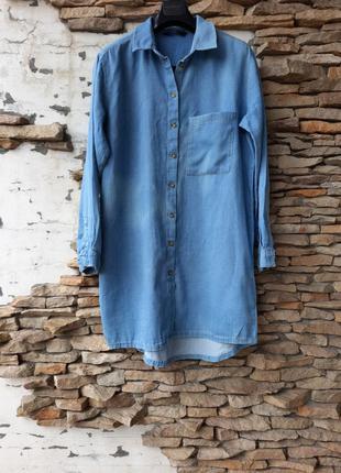 Джинсовое платье 👗,  удлинённая рубашка, туника большого размера