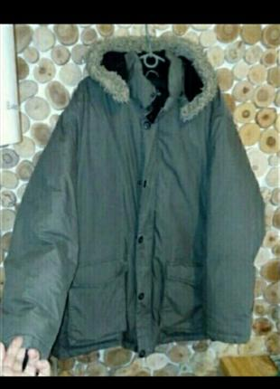 Пуховик пух зимний мужской длинный
