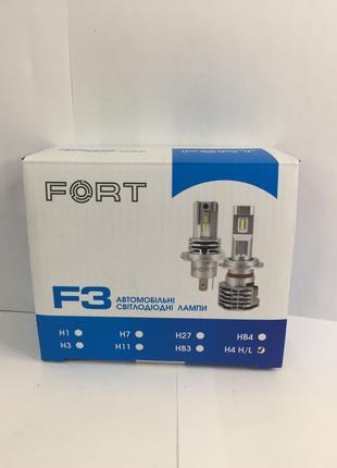 LED лампа FORT F3 H4 H/L CSP (Пара)