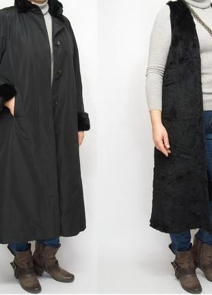 Пальто, натуральный мех. пальто на меховой подстежке.