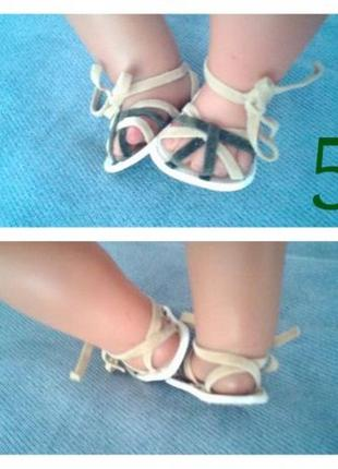 Обувь на пупса беби борн ножка 6см