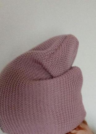 Демисезонная шапка,вязаная,женская,модная