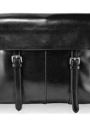 Кожаный портфель-сумка-планшет,стильный,классический,актуальны...