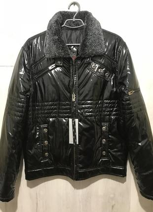Мужская зимняя куртка grs casual заклёпки 070 {52}смотрите замеры