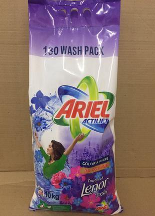 Ariel порошок 10 кг универсальный Ariel Actilift Lenor profession