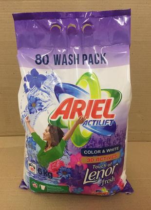 Ariel порошок 6 кг универсальный Ariel Actilift Lenor profession