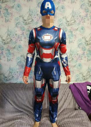 Карнавальный костюм капитан америка, супергерой