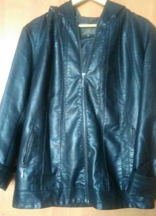 Женская кожаная куртка кожзам кожанка экокожа разм 58