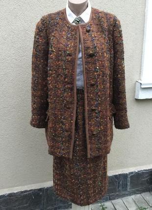 Винтаж костюм(жакет,пиджак,блейзер,пальто+юбка)стиль шанель,эк...