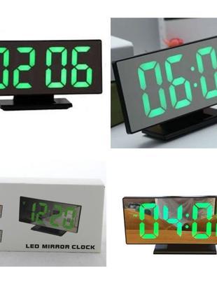 Электронные настольные часы зеркальные 3618