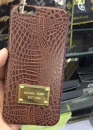 Пластиковый чехол Michael Kors Crocodile Коричневый для IPhone 6/