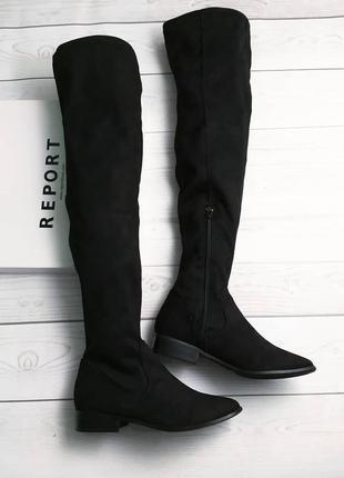 Report оригинал замшевые ботфорты на низком каблуке бренд из сша