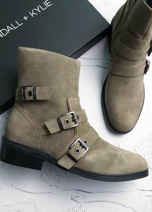 Kendall + kylie оригинал замшевые ботинки с ремешками