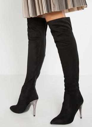 Nina оригинал стильные сапоги ботфорты на шпильке бренд оригин...