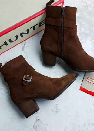 Hanter оригинал замшевые шоколадные водостойкие ботинки
