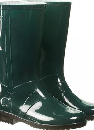 Litma сапоги пвх р.38-39 темно-зеленый цвет, резиновые сапожки