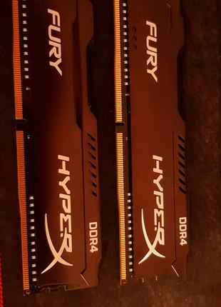 Оперативная память Kingston HyperX Fury DDR 4 8gb (4x2)