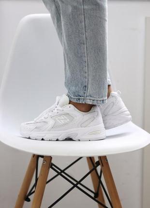 New balance 530 white кроссовки нью беланс наложенный платёж к...