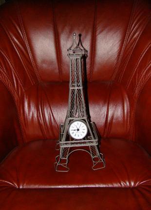 Каминные металлические кварцевые часы Эйфелевая башня из Америки