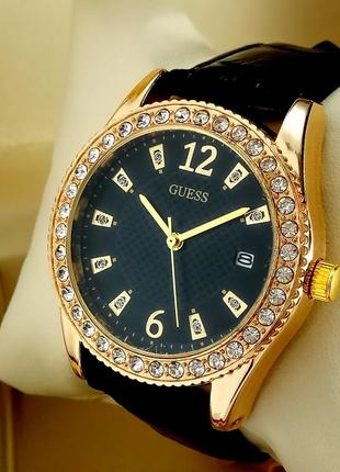 Женские кварцевые наручные часы guess t32 на кожаном ремешке, ...