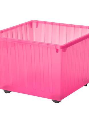 Ящик на коліщатах, світло-рожевий, 39x39 см VESSLA