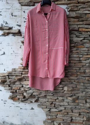 Стильная удлинённая рубашка 👕 туника большого размера
