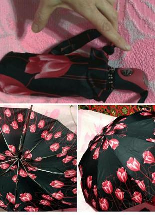 Карманный зонт автомат в подарочной коробке.