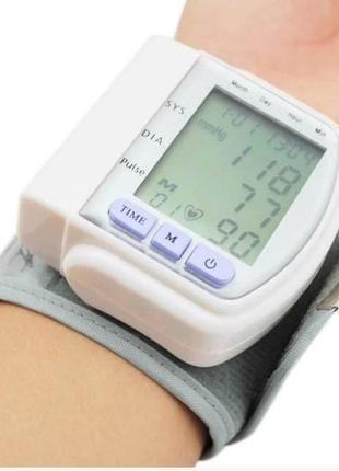 Цифровой Тонометр на запястье / измеритель давления и пульса