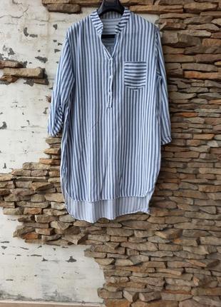 Вискозное платье 👗, удлинённая рубашка туника большого размера