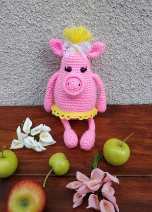 Свинка игрушка ручной работы