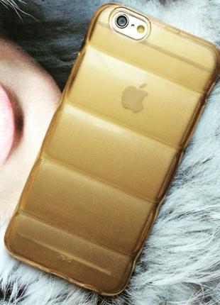 Силиконовый чехол Rubber Золотистый для iPhone 6/6s