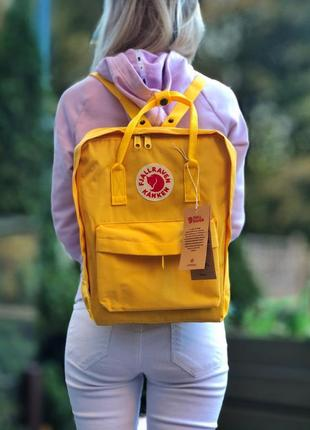 Рюкзак 16л канкен fjallraven kanken yellow 💛