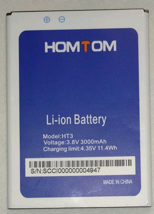Акамулятор батарея для телефона HOMTOM