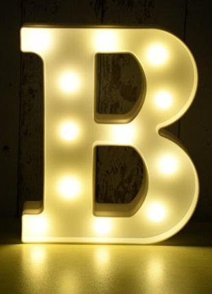 Led буква B, размер 22*18см