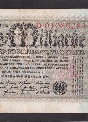 1 000 000 000 марок 1923г. Берлин. Германия. D 01086284.