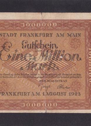 1 000 000 марок 1923г. Франкфурт-на-Майне. Германия. 342638.