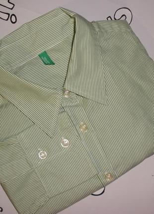 Классическая женская рубашка в деловом офисном стиле benetton ...