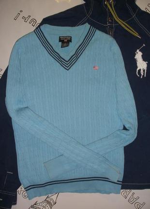 Трикотажный пуловер, джемпер ralph lauren в косы