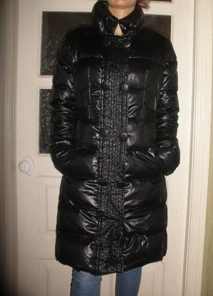 Пуховое пальто пуховик женский effect италия