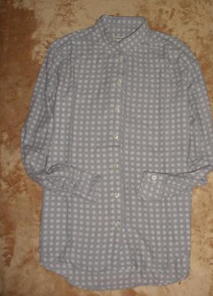 Итальянская классическая в деловом стиле  рубашка блузка  в горох