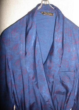 Красивый длинный домашний халат tootal из вискозы