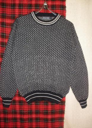 Теплый уютный вязанный свитер джемпер woolovers натуральной ше...