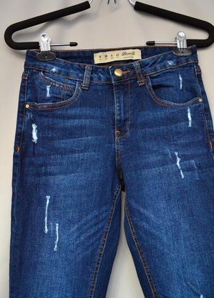 Стильные укороченные женские джинсы denim co
