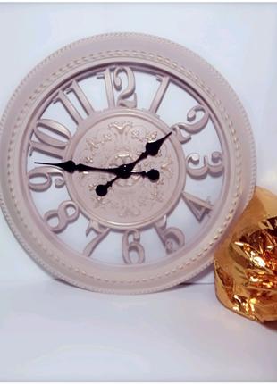 Часы настенные Skeleton D=40 см Айвори