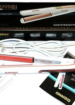 Утюжок выпрямитель Gemei GM-430 для волос керамическое покрытие