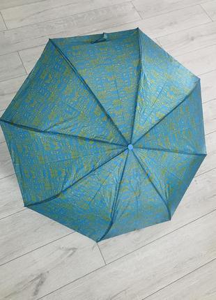 Зонт, голубой зонтик, парасолька.