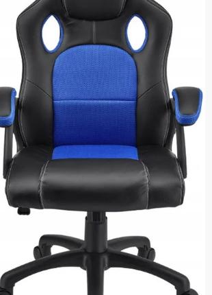 Кресло компьютерное игровое или для офиса HOME FEST OSKAR СИНЕЕ п